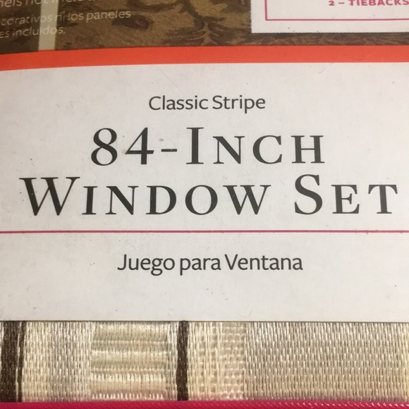 Better Homes And Gardens Other - NWT Better Homes 84-Inch Window Set Classic Stripe